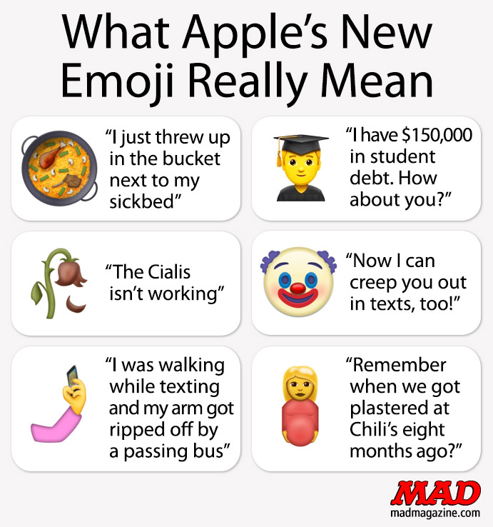 MAD Magazine, Idiotical Originals, Apple, Emoji
