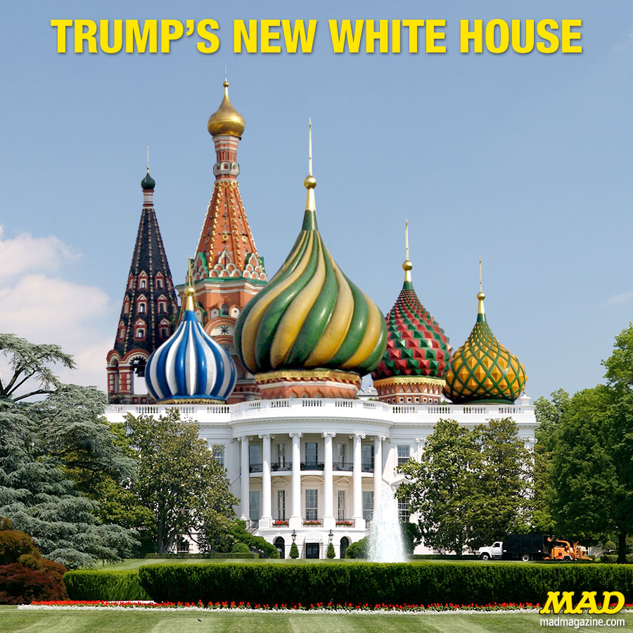 MAD Magazine, Idiotical Originals, Donald Trump, Kremlin, White House, Vladimir Putin