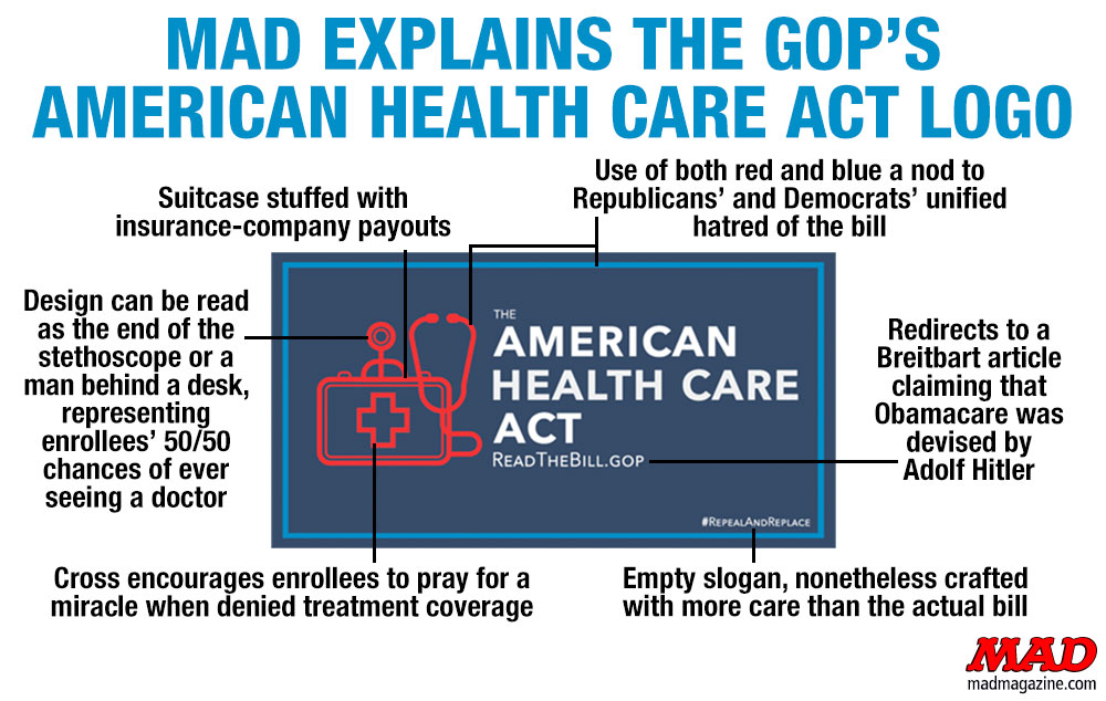 MAD Magazine, Idiotical Originals, AHCA, Paul Ryan, Ryancare, Trumpcare