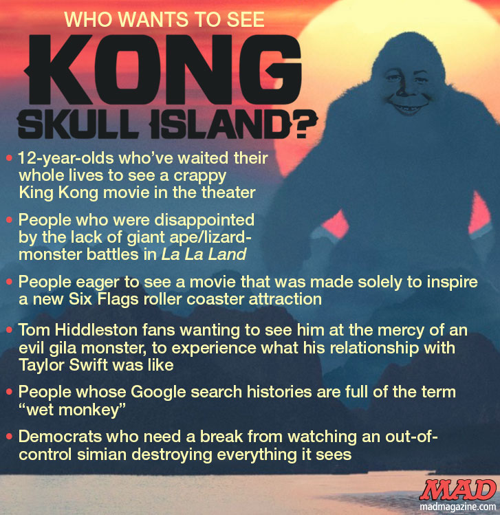 MAD Magazine, Idiotical Originals, Kong: Skull Island