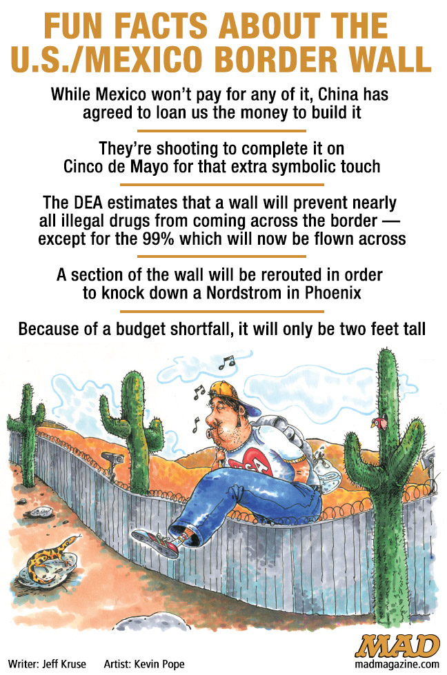 Fun Facts About The U S Mexico Border Wall