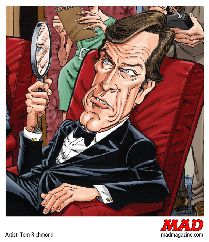 MAD Magazine, Classic MAD, Roger Moore, Tom Richmond