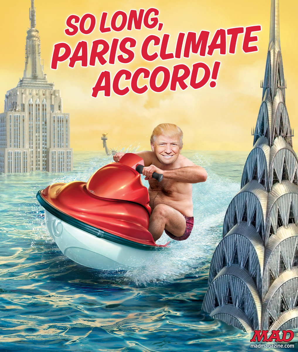 mad magazine donald trump paris accord so long climate change flooded new york city rising sea levels