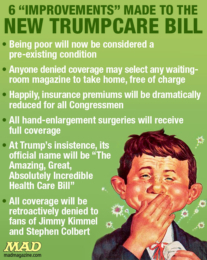 MAD Magazine, Idiotical Originals, Trumpcare