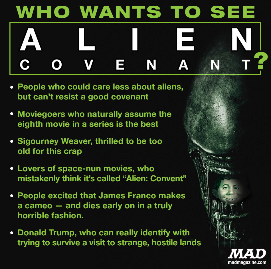 mad magazine alien convenant who wants to see