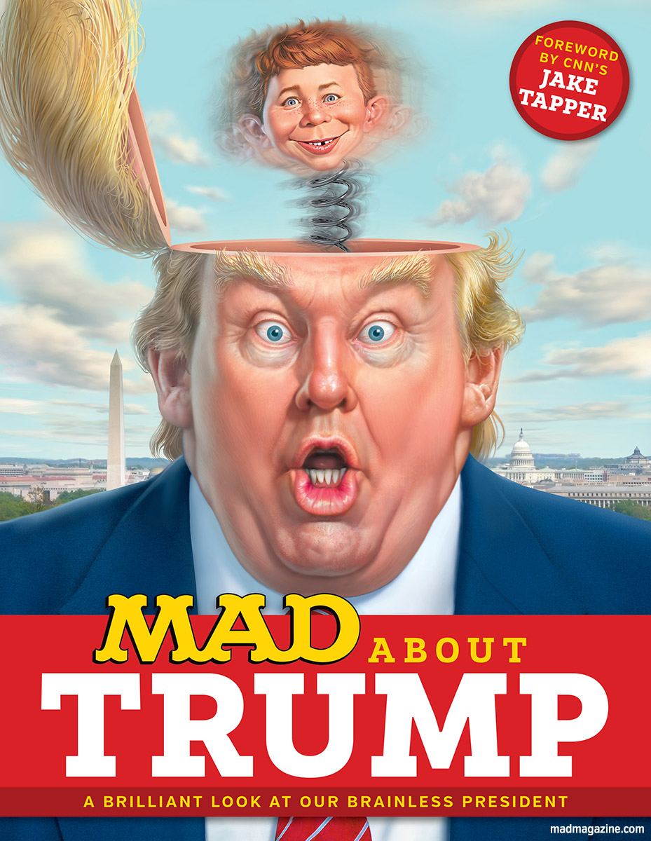mad about trump on sale now mad magazine