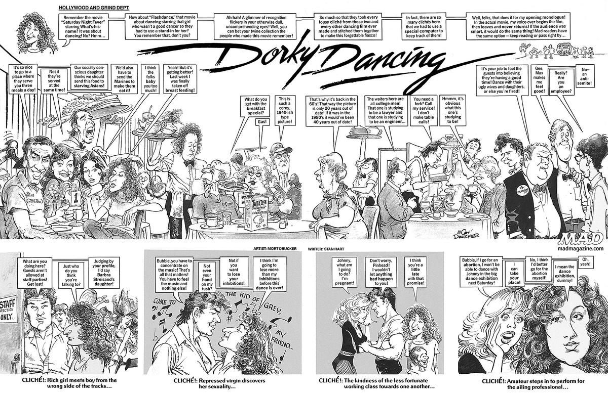 mad magazine dirty dancing dorky dancing stan hart mort drucker