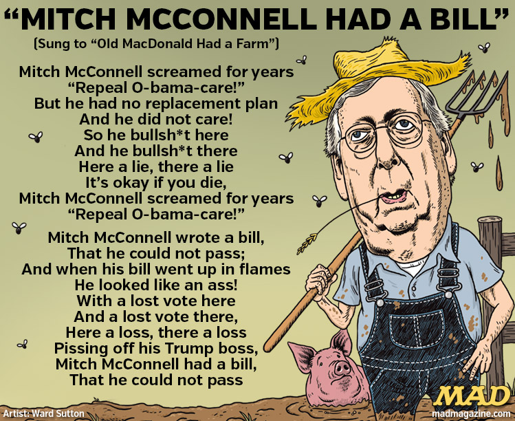 MAD Magazine, Idiotical Originals, Mitch McConnell