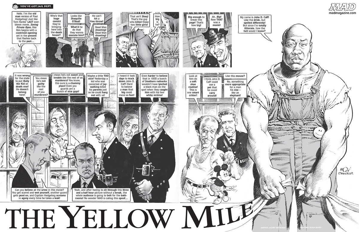 mad magazine the green mile yellow mile stan hart mort drucker tom hanks