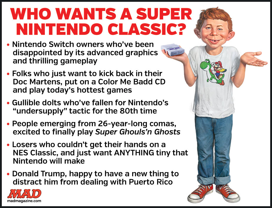 MAD Magazine, Idiotical Originals, Super Nintendo Classic