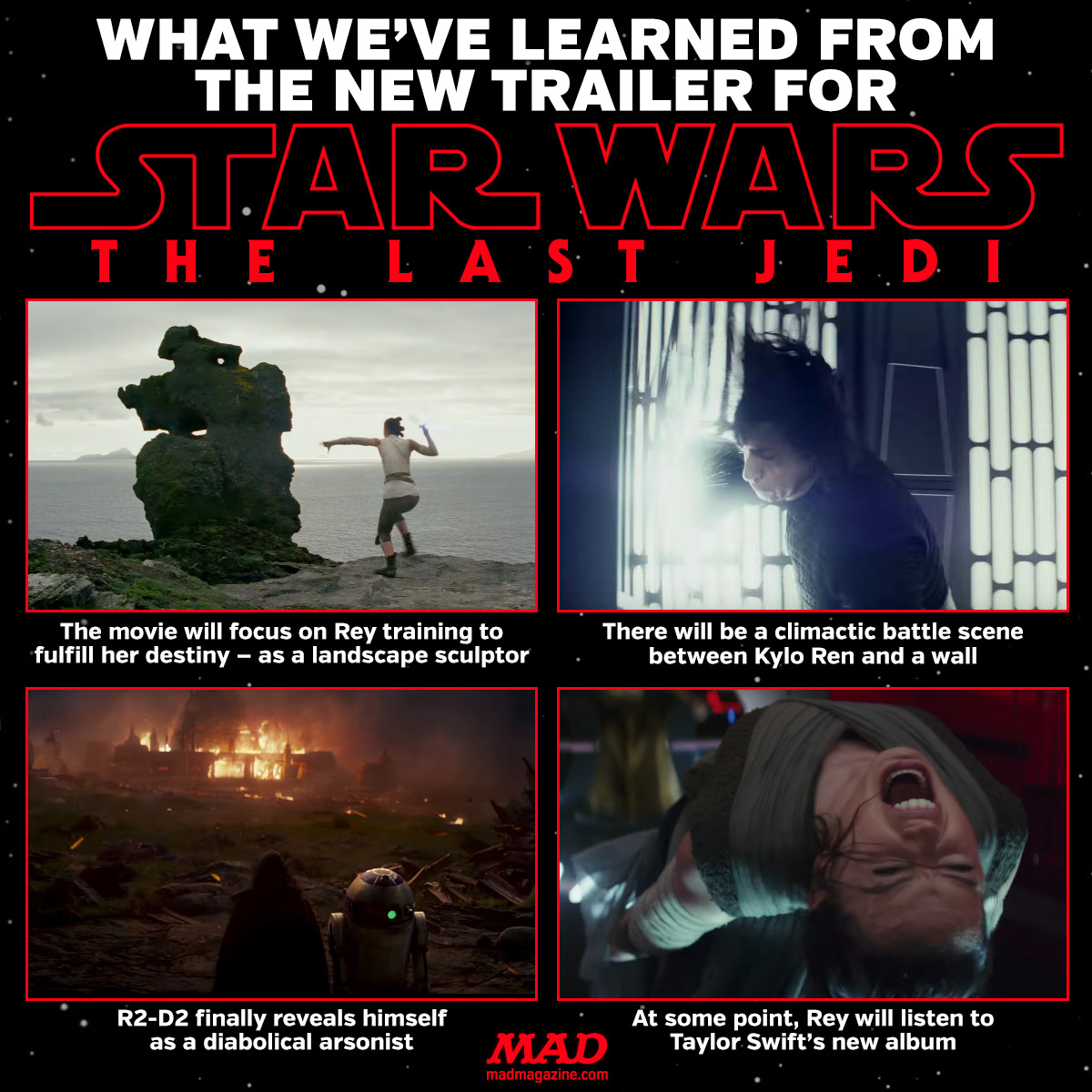mad magazine star wars the last jedi What We've  Learned from the NEW Trailer for