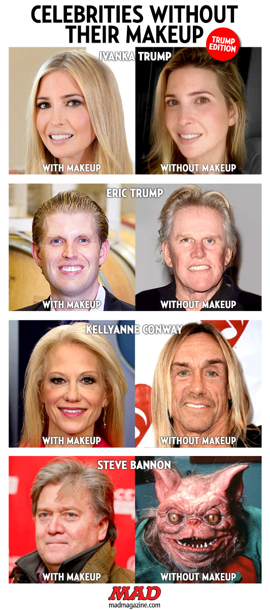 MAD Magazine, Idiotical Originals, Celebrities Without Their Makeup, Donald Trump