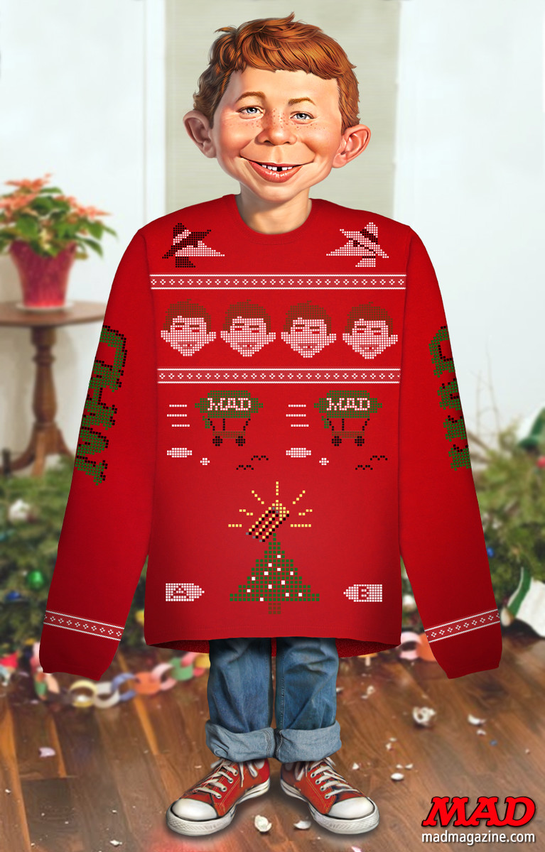 MAD Magazine, Idiotical Originals, Christmas, Ugly Sweater