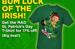 MAD Magazine Alfred E. Neuman St. Patrick's Day Leprechaun T-Shirt