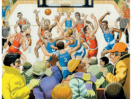 Classic MAD, Al Jaffee, March Madness, Basketball, Fold-In, The Great Calamari Shortage of 1972
